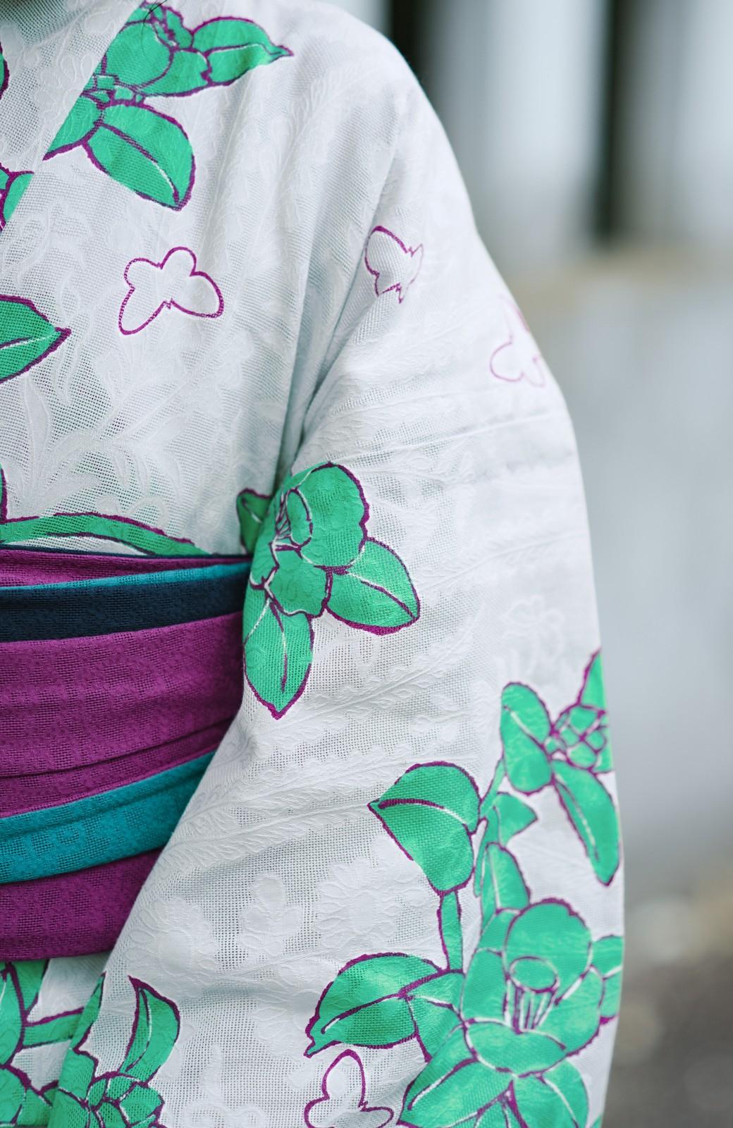 haco! ひでや工房 京都のからみ織ジャカード浴衣  <グレー系その他>の商品写真8