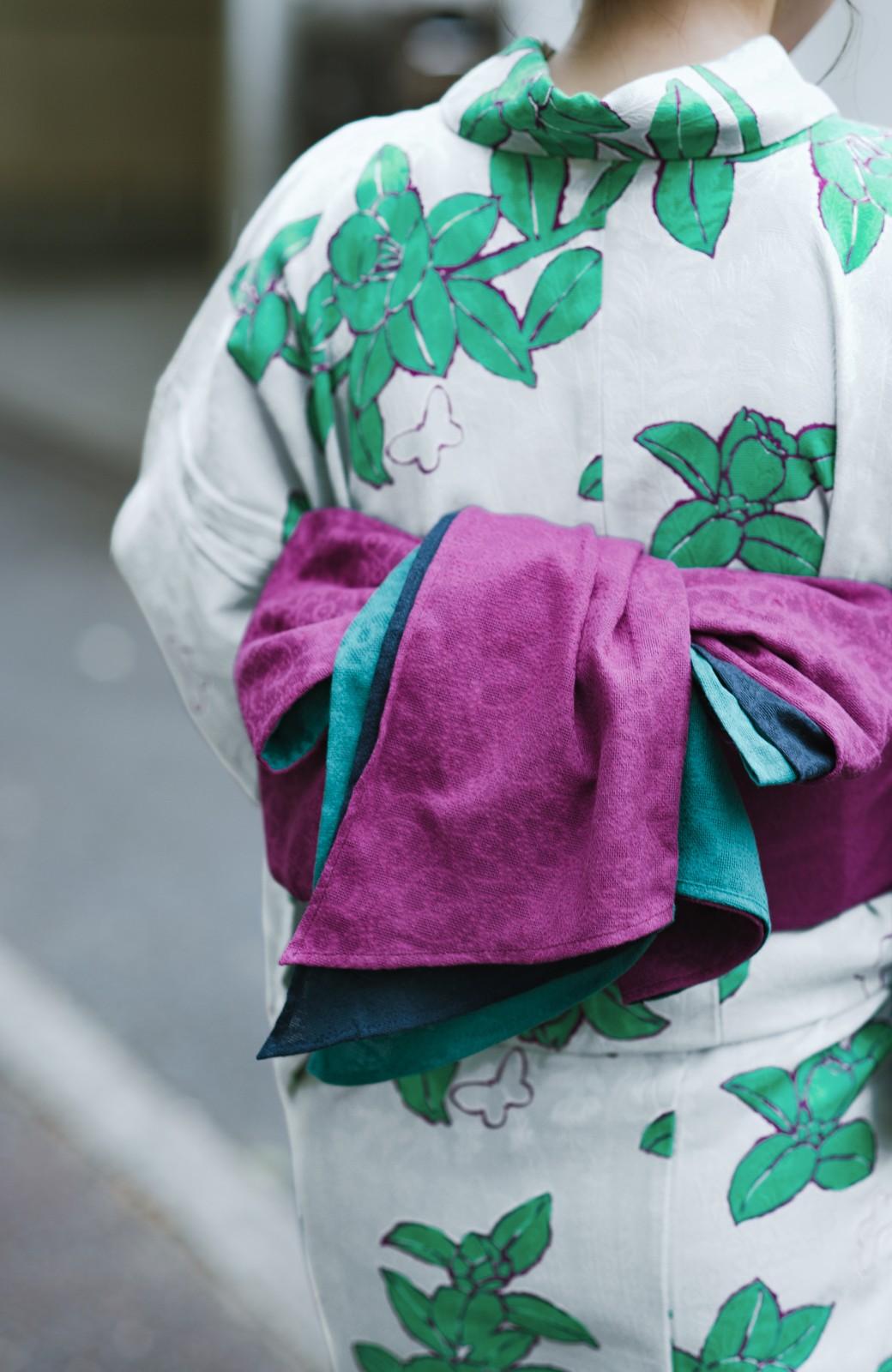haco! ひでや工房 京都のからみ織ジャカード浴衣  <グレー系その他>の商品写真9