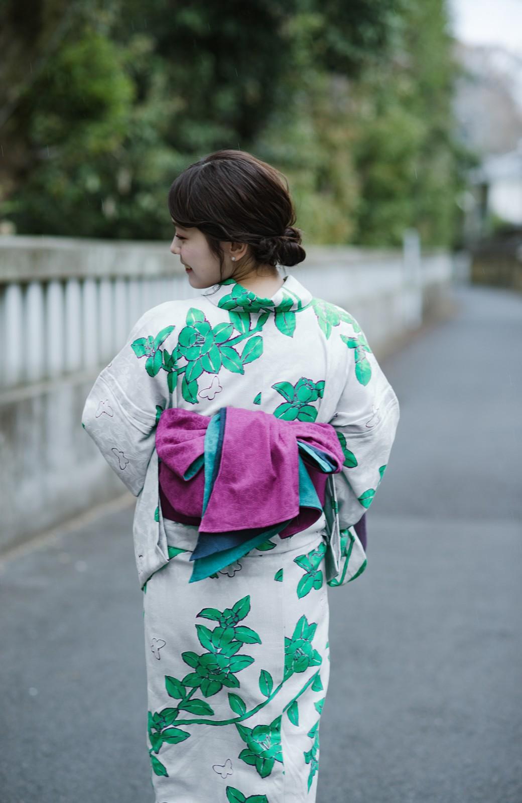 haco! ひでや工房 京都のからみ織ジャカード浴衣  <グレー系その他>の商品写真10