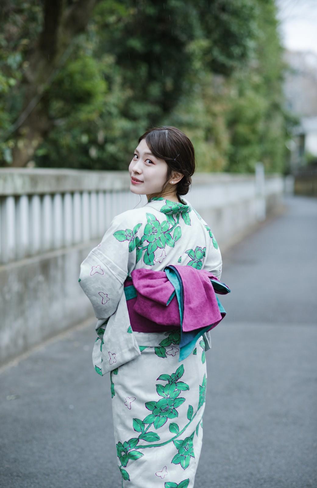haco! ひでや工房 京都のからみ織ジャカード浴衣  <グレー系その他>の商品写真11