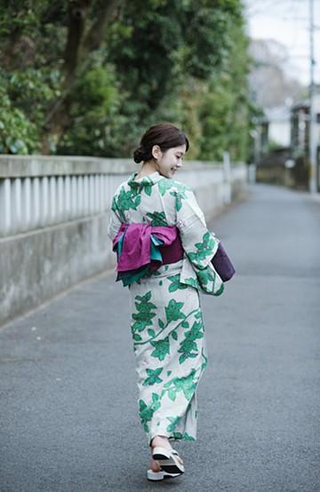 haco! ひでや工房 京都のからみ織ジャカード浴衣  <グレー系その他>の商品写真