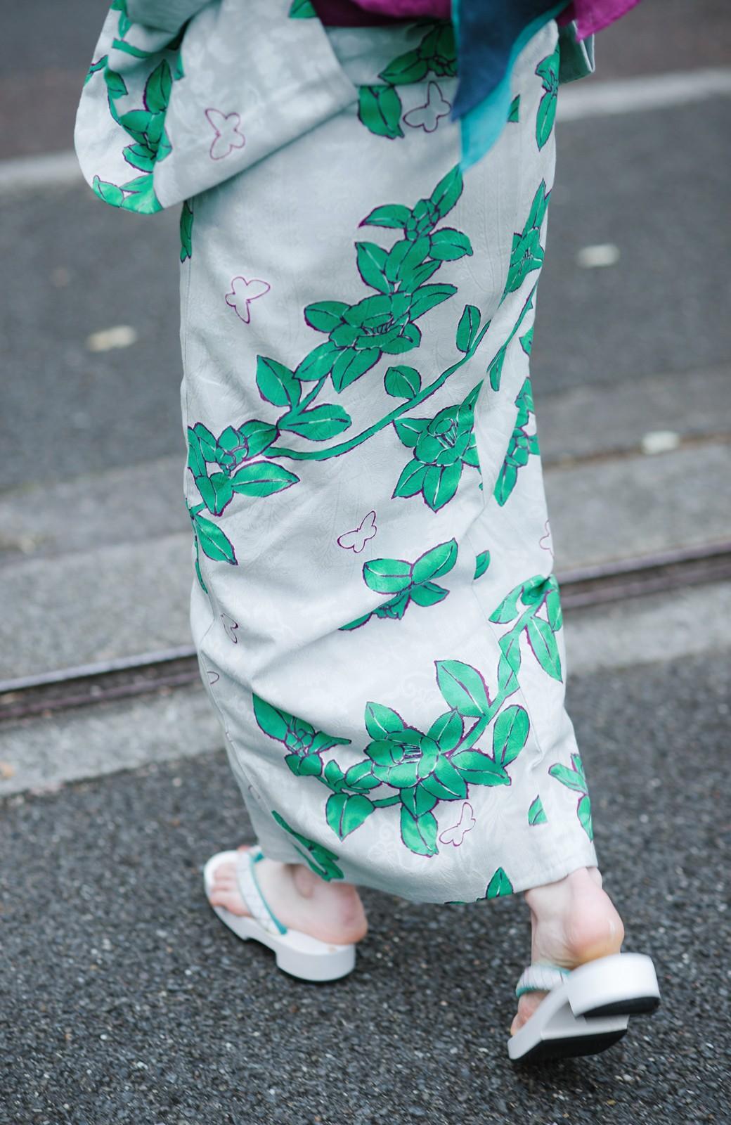 haco! ひでや工房 京都のからみ織ジャカード浴衣  <グレー系その他>の商品写真12