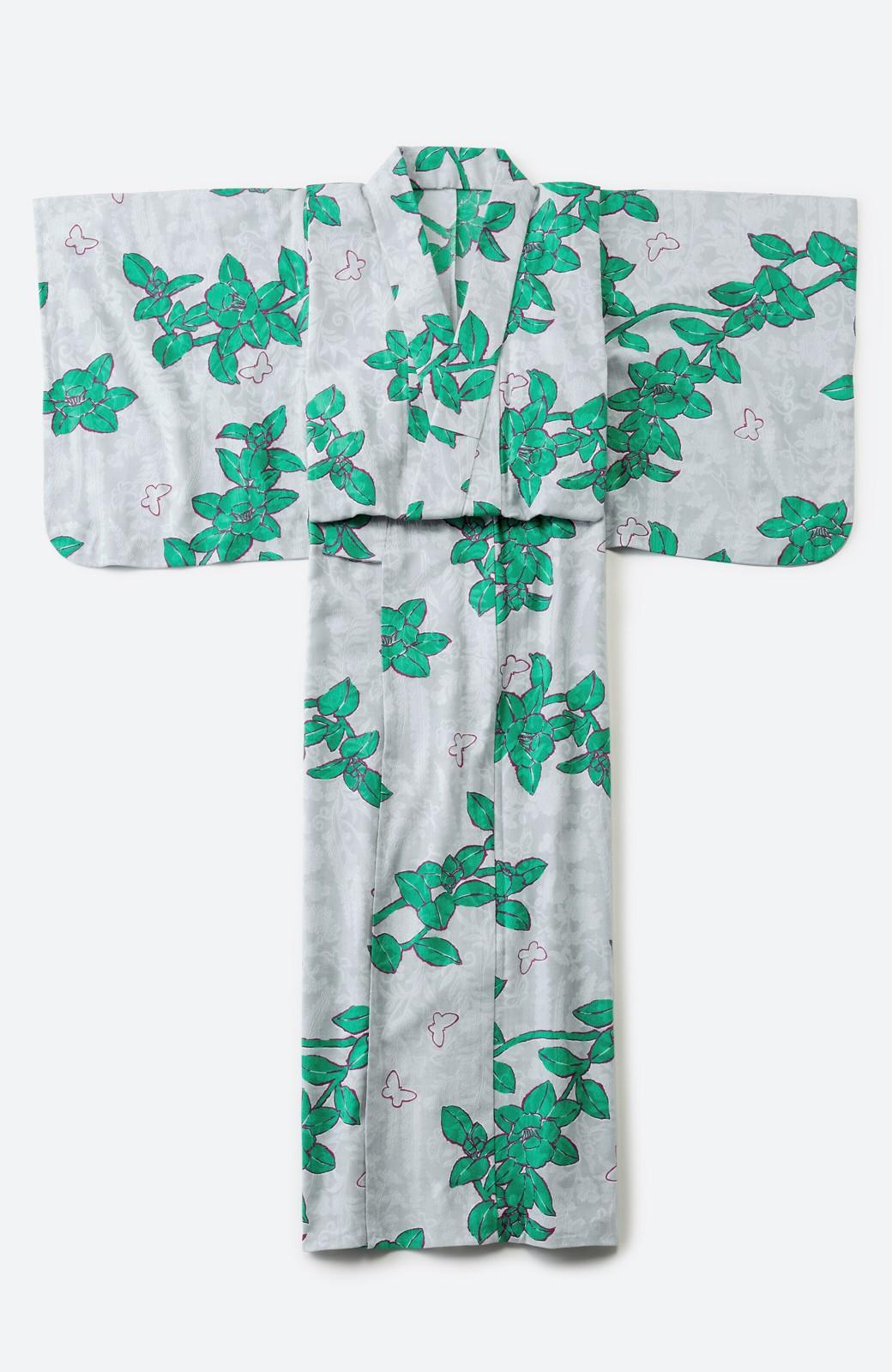 haco! ひでや工房 京都のからみ織ジャカード浴衣  <グレー系その他>の商品写真2