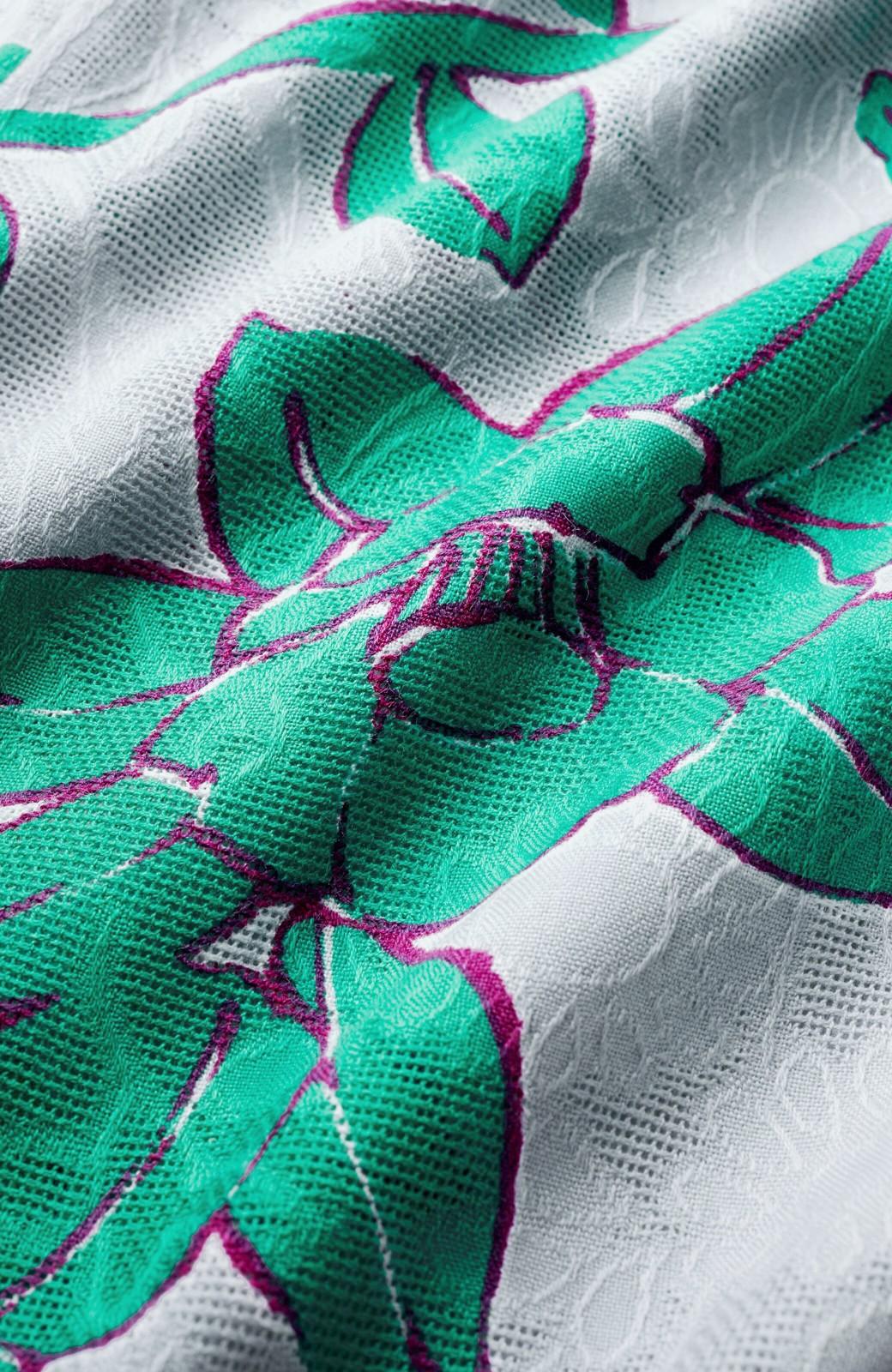 haco! ひでや工房 京都のからみ織ジャカード浴衣  <グレー系その他>の商品写真3