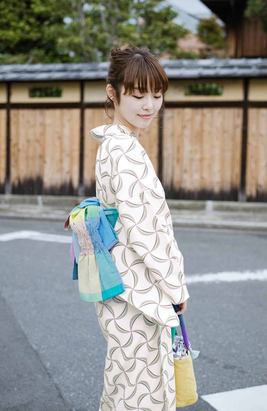 haco! ひでや工房 京都の綿ちりめん浴衣 <ホワイト系その他>の商品写真12