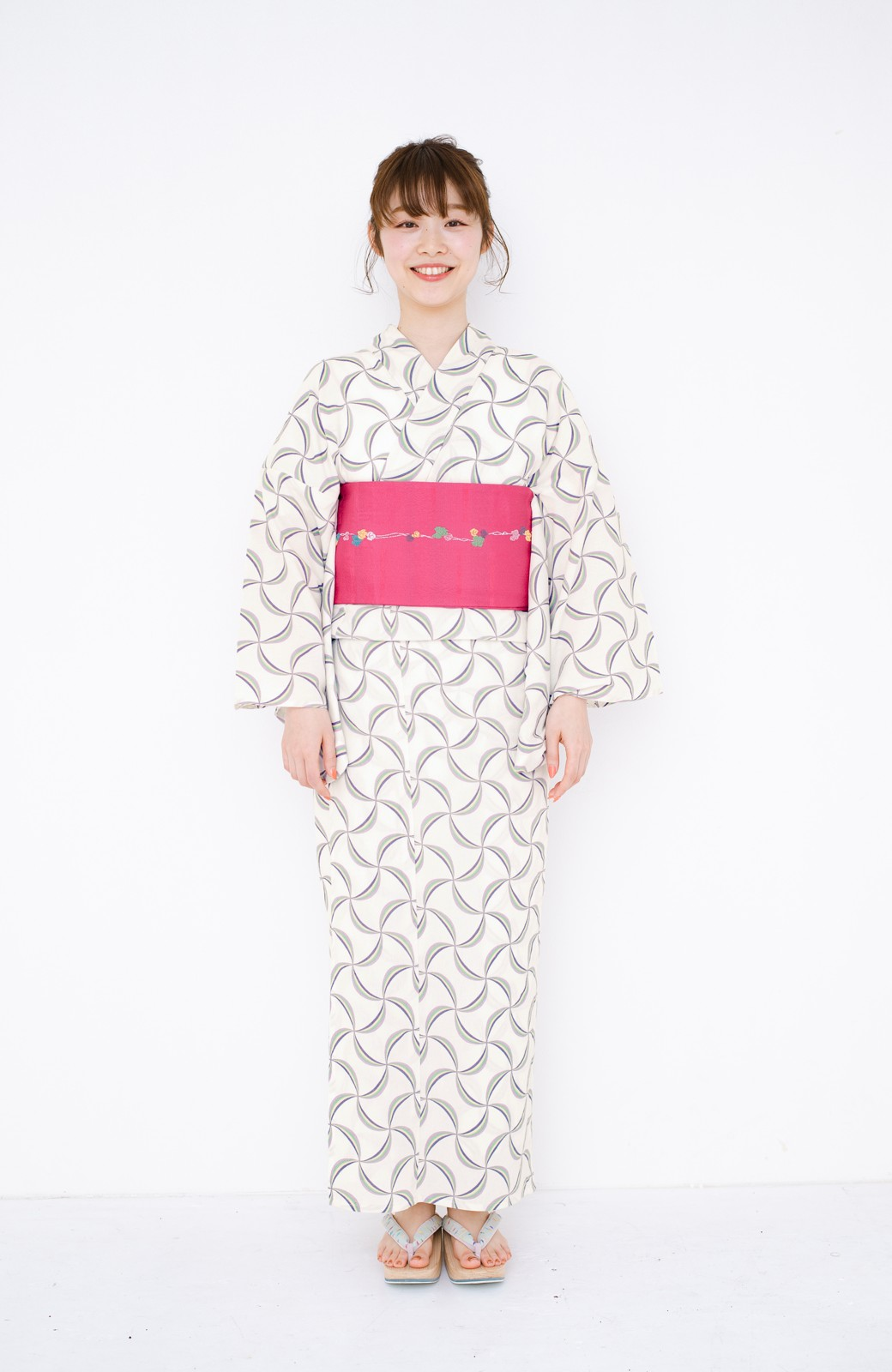 haco! ひでや工房 京都の綿ちりめん浴衣 <ホワイト系その他>の商品写真14
