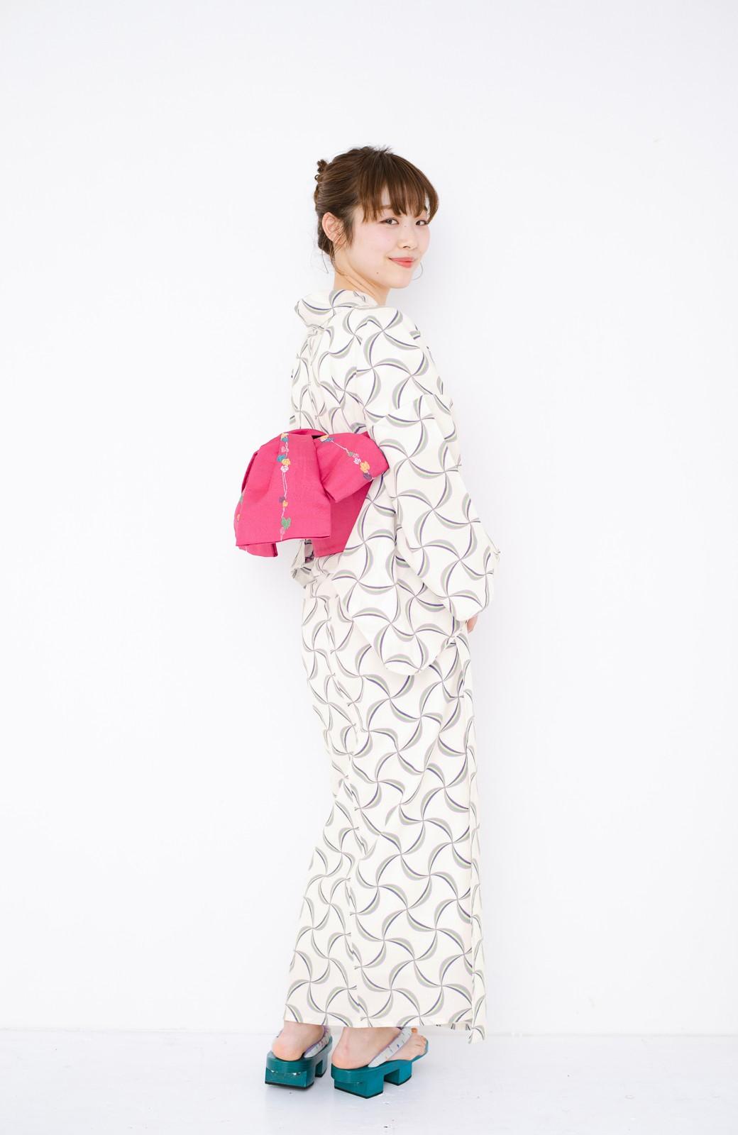 haco! ひでや工房 京都の綿ちりめん浴衣 <ホワイト系その他>の商品写真17