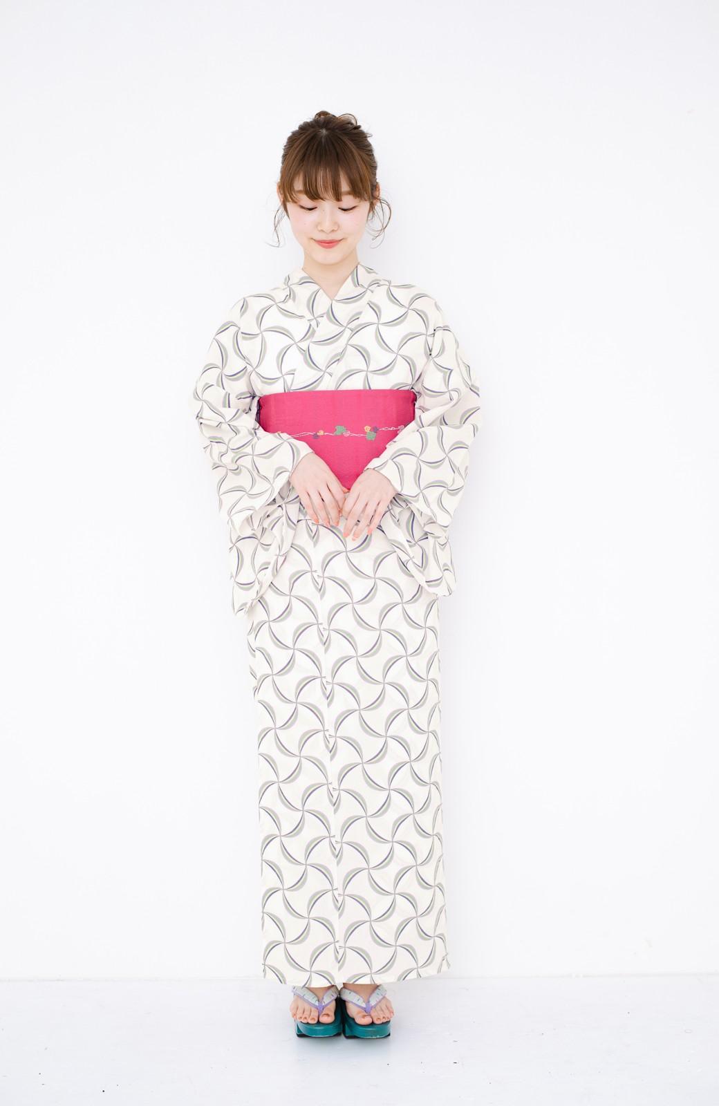 haco! ひでや工房 京都の綿ちりめん浴衣 <ホワイト系その他>の商品写真18