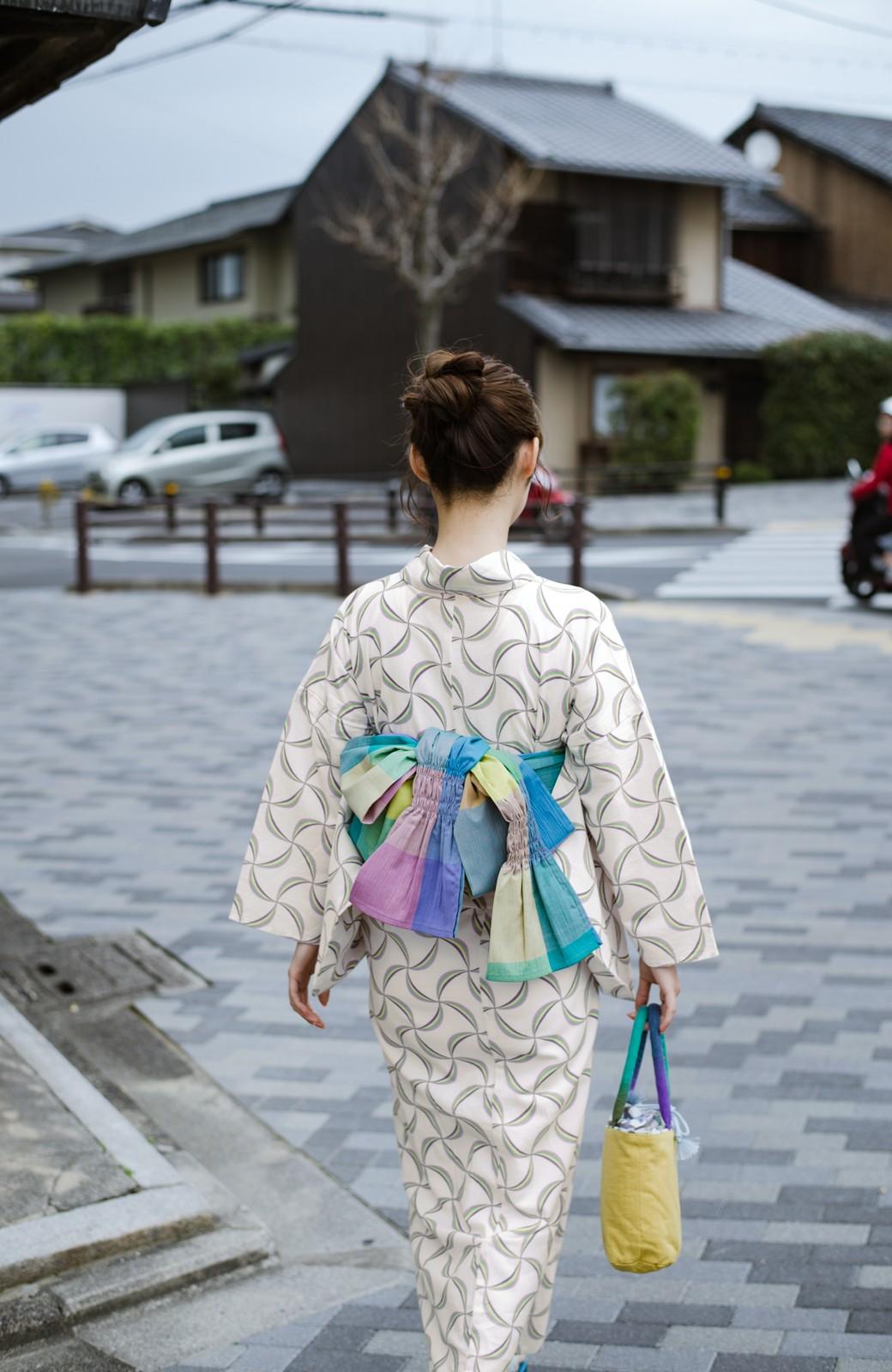 haco! ひでや工房 京都の綿ちりめん浴衣 <ホワイト系その他>の商品写真20