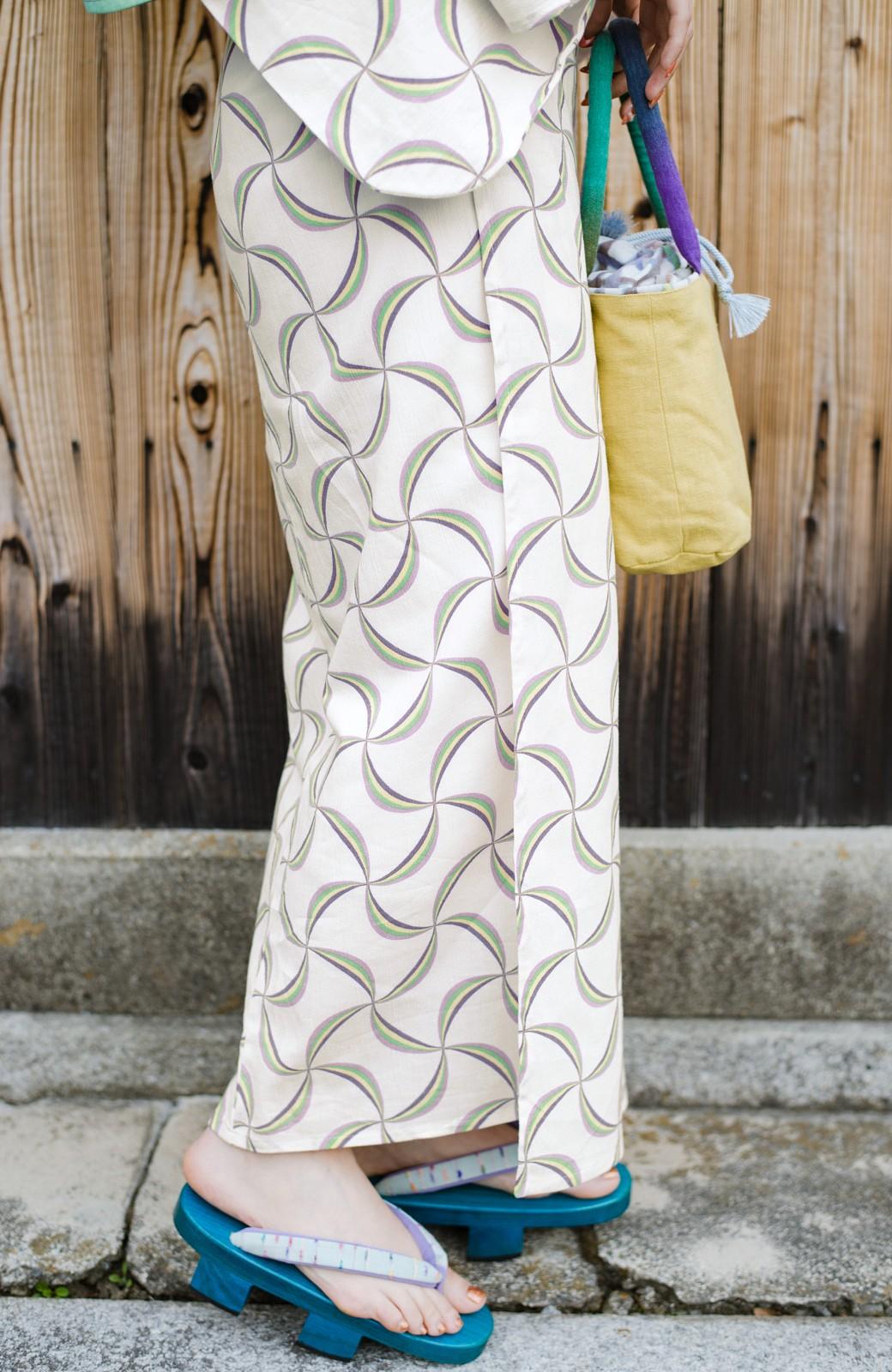 haco! ひでや工房 京都の綿ちりめん浴衣 <ホワイト系その他>の商品写真7