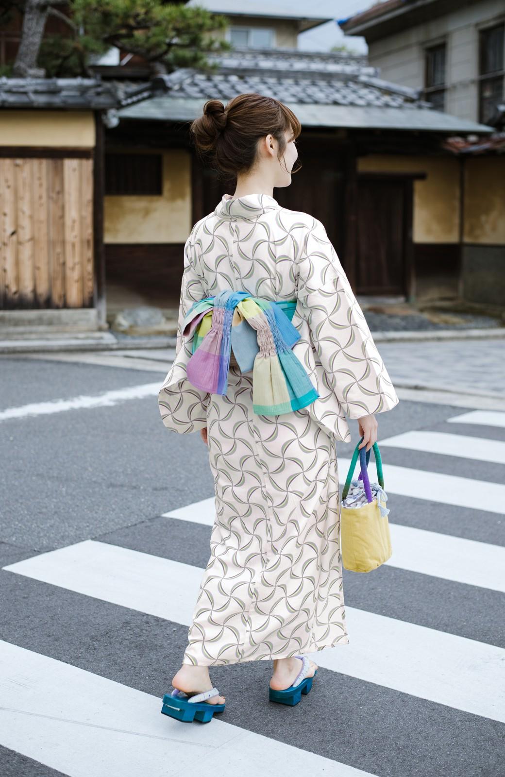 haco! ひでや工房 京都の綿ちりめん浴衣 <ホワイト系その他>の商品写真11