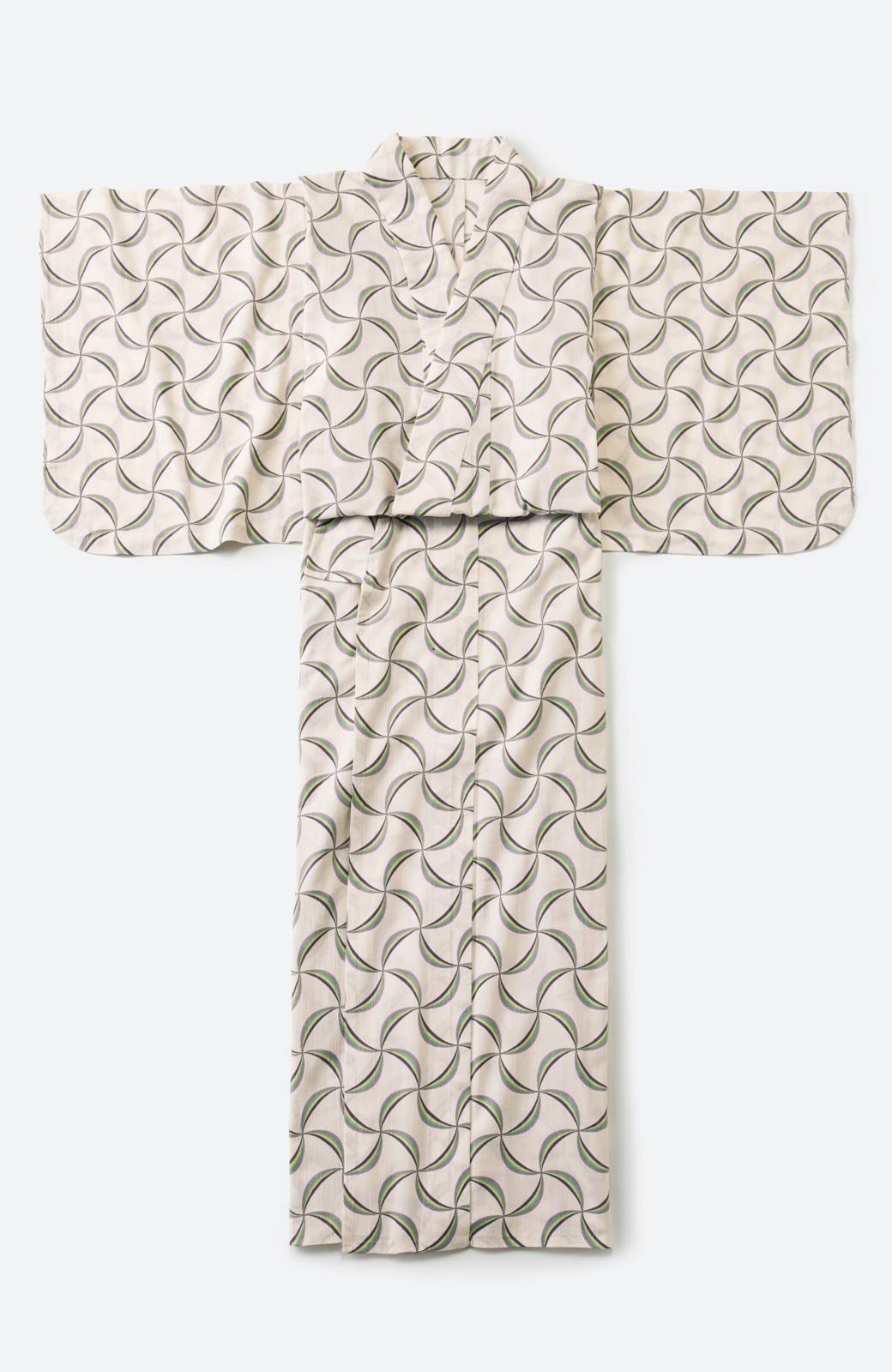 haco! ひでや工房 京都の綿ちりめん浴衣 <ホワイト系その他>の商品写真2