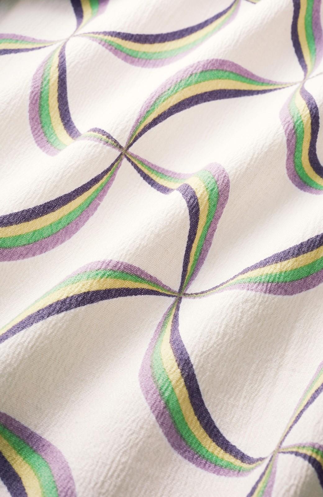 haco! ひでや工房 京都の綿ちりめん浴衣 <ホワイト系その他>の商品写真3