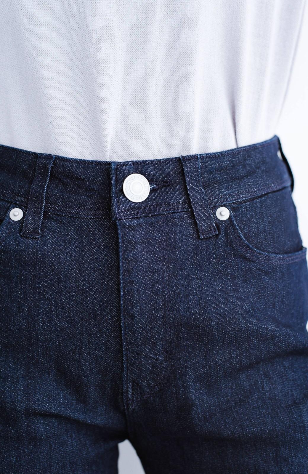 haco! WHEART 吸水速乾素材のスキニーデニムパンツ <インディゴブルー>の商品写真4