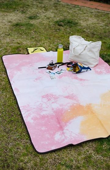 haco! バカンス 折りたたみピクニックマット <ピンク>の商品写真