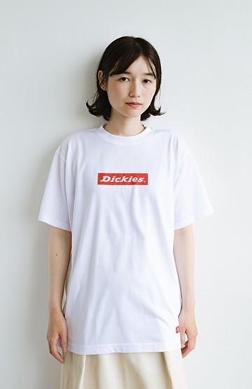 haco! Dickies TC天竺プリントルーズフィットTシャツ <ホワイト>の商品写真