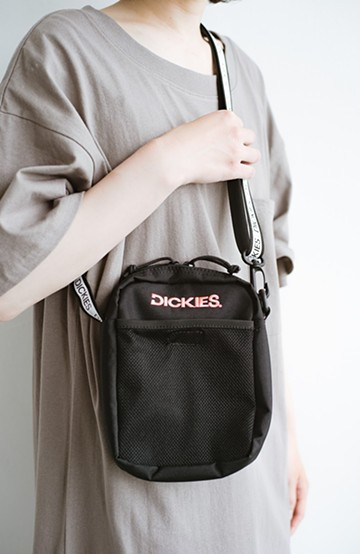 haco! Dickies CORDURA(R)ポリエステル刺繍入りミニショルダーバッグ <ブラック>の商品写真