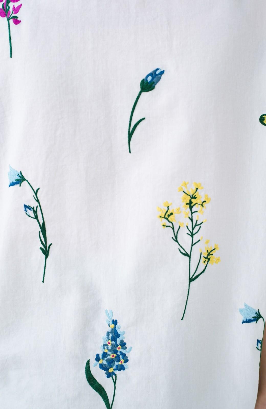 haco! LITTLE MARKET フレンチスリーブ刺繍プルオーバー <アイボリー>の商品写真4