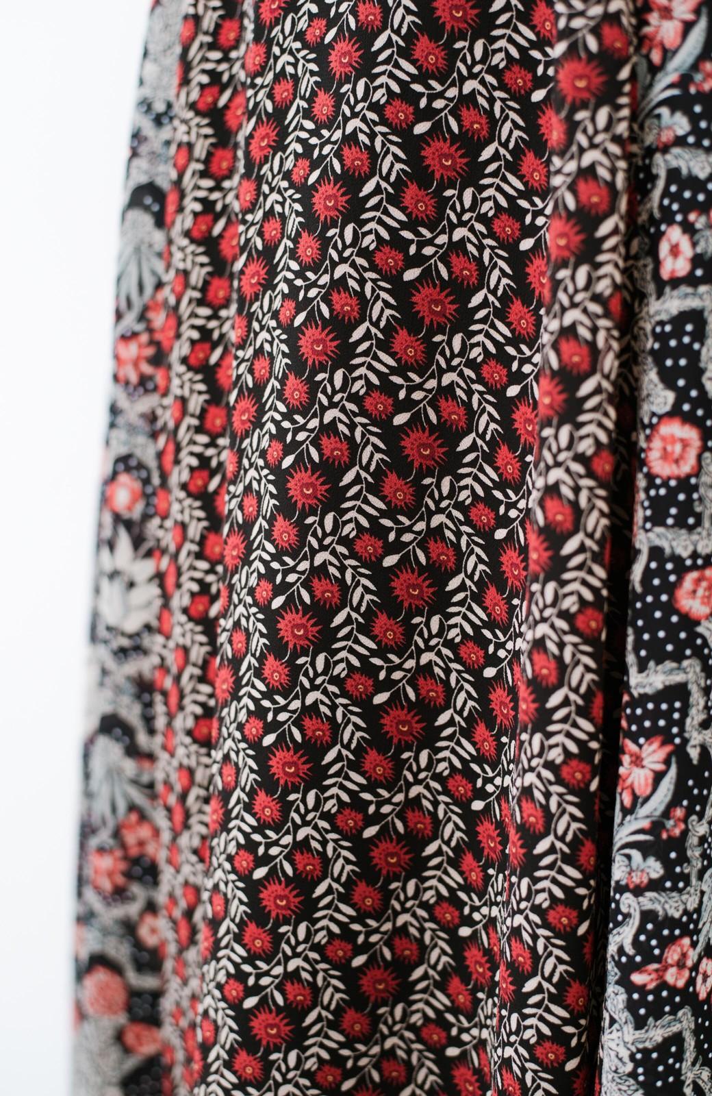 haco! 【洗濯機洗いOK】シンプルなトップスに合わせるだけでかわいくなれる MIX柄スカート <ブラック系その他>の商品写真9
