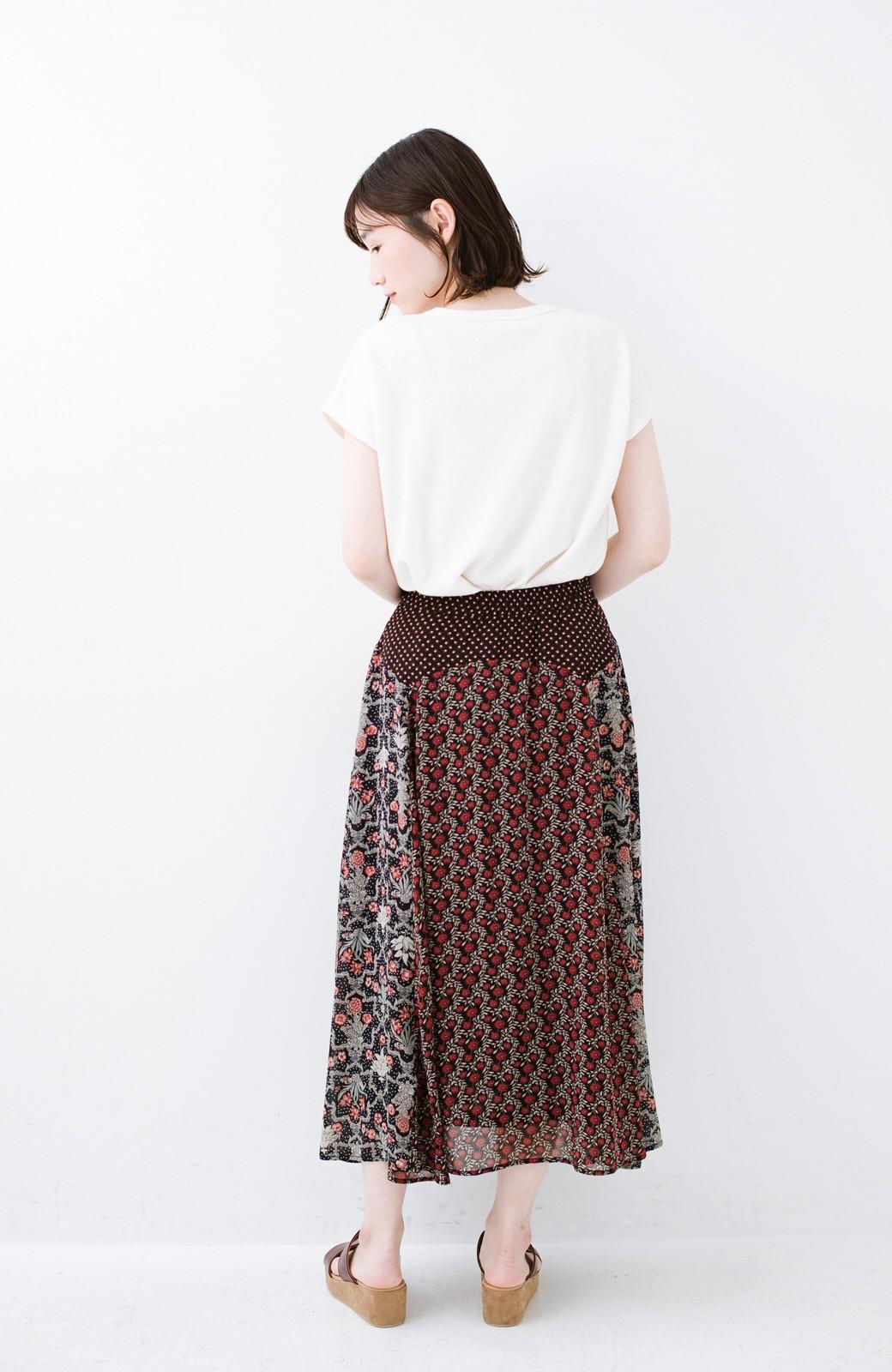 haco! 【洗濯機洗いOK】シンプルなトップスに合わせるだけでかわいくなれる MIX柄スカート <ブラック系その他>の商品写真14