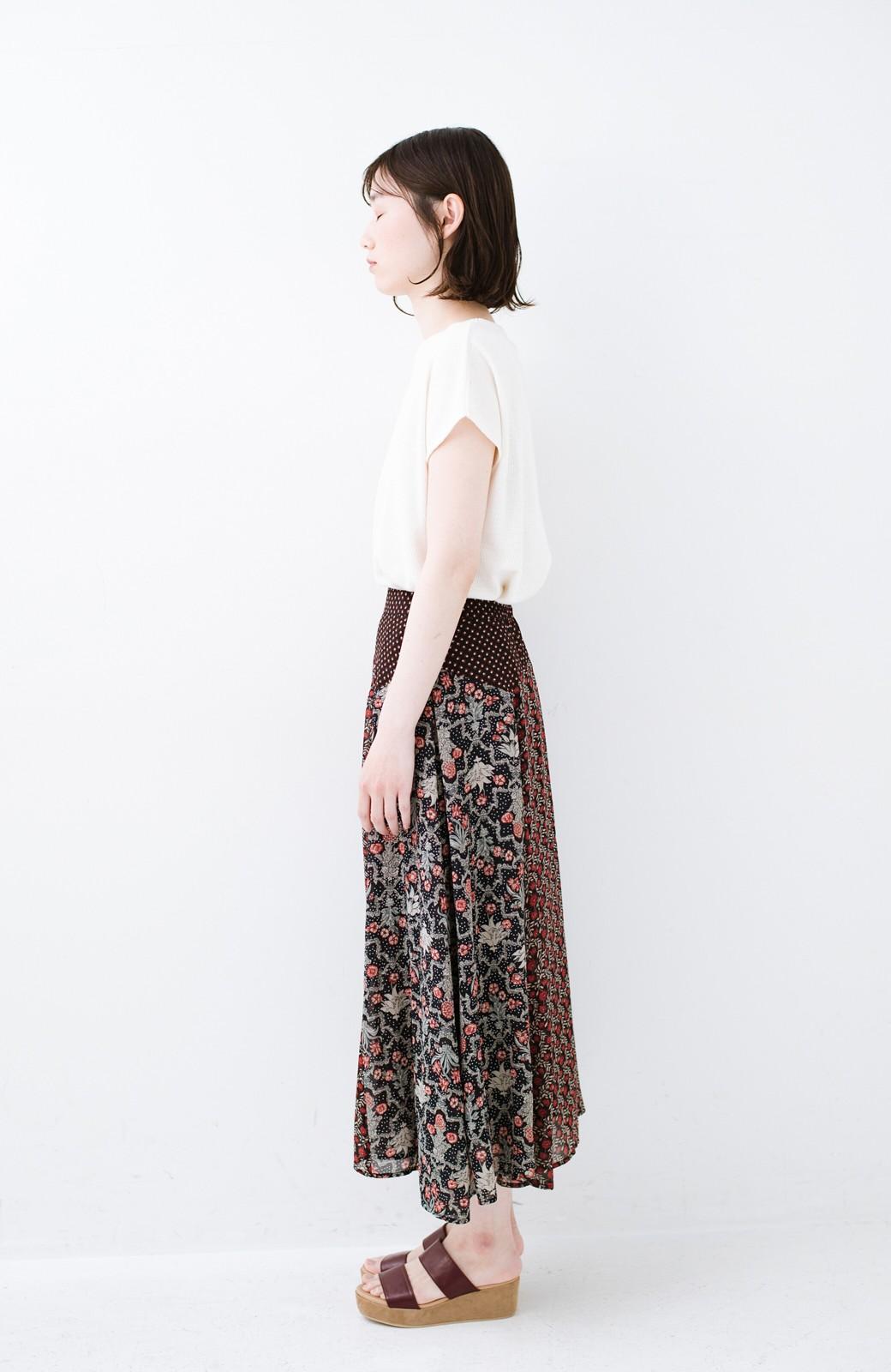 haco! 【洗濯機洗いOK】シンプルなトップスに合わせるだけでかわいくなれる MIX柄スカート <ブラック系その他>の商品写真13