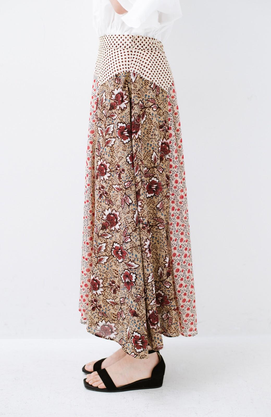 haco! 【洗濯機洗いOK】シンプルなトップスに合わせるだけでかわいくなれる MIX柄スカート <ベージュ系その他>の商品写真6