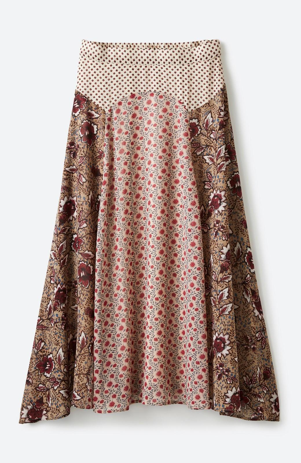 haco! 【洗濯機洗いOK】シンプルなトップスに合わせるだけでかわいくなれる MIX柄スカート <ベージュ系その他>の商品写真3
