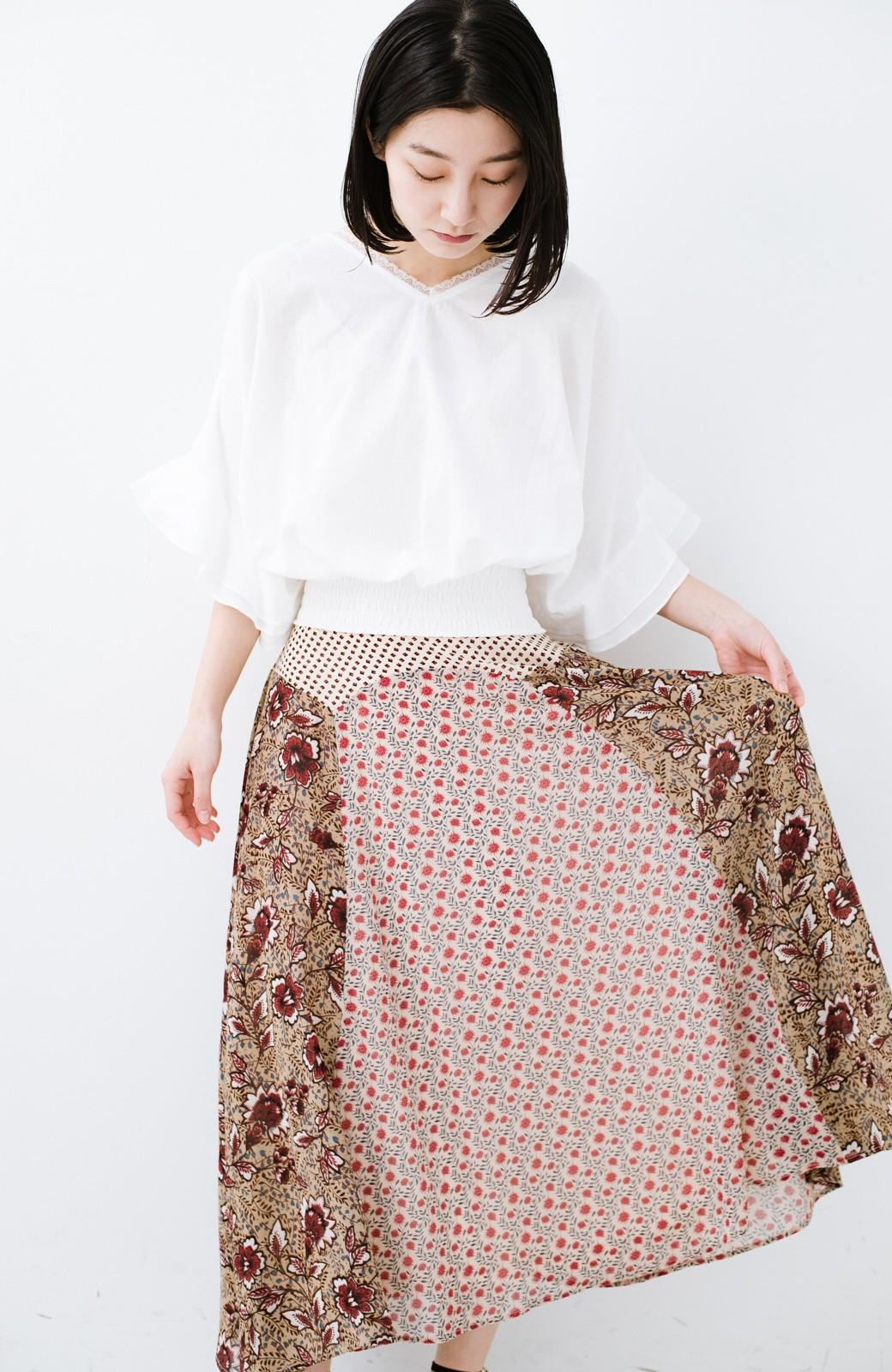 haco! 【洗濯機洗いOK】シンプルなトップスに合わせるだけでかわいくなれる MIX柄スカート <ベージュ系その他>の商品写真14
