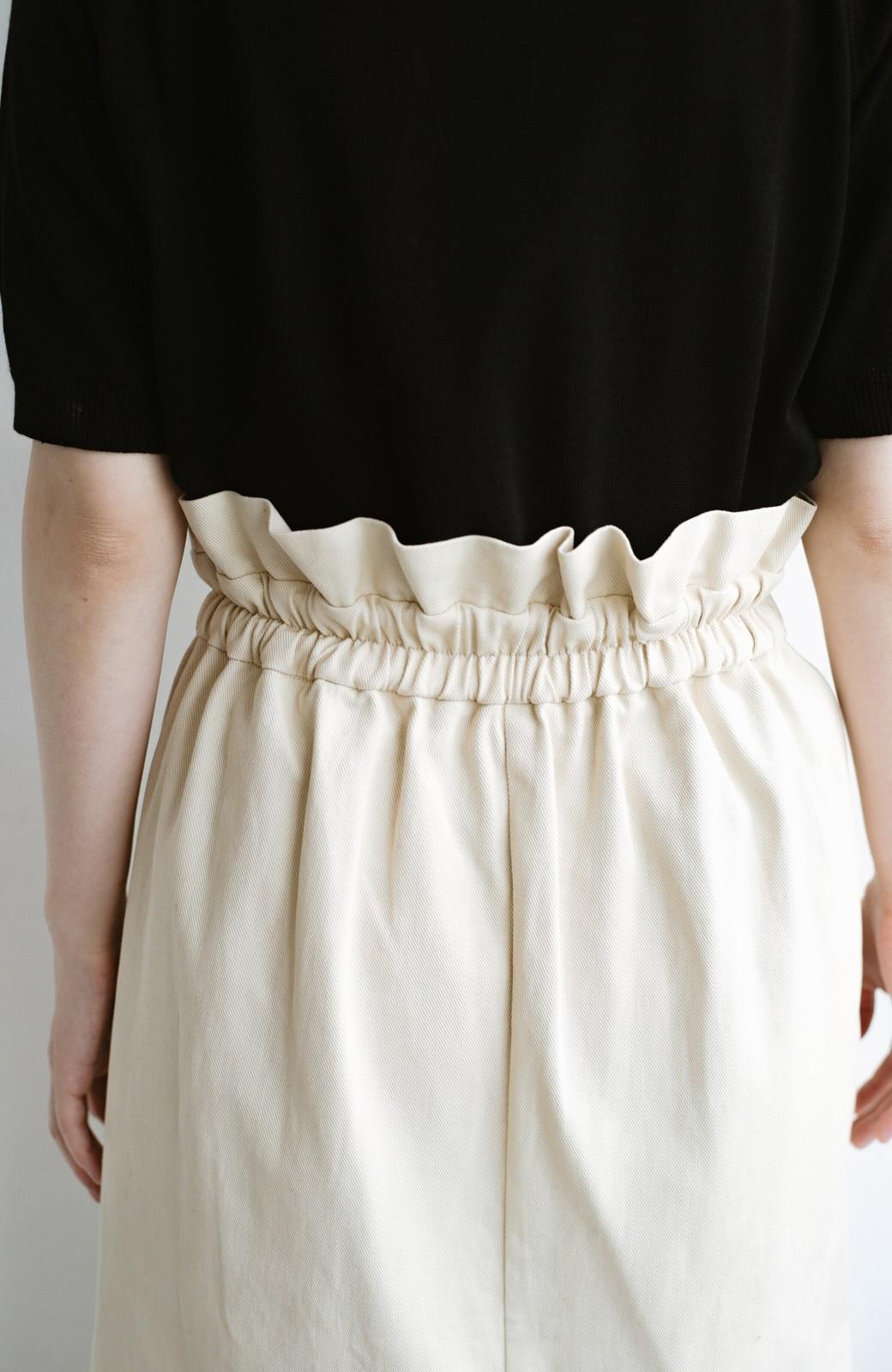 haco! ボタンがポイントのカジュアルにもきれいにもはけるセミタイトスカート <ライトベージュ>の商品写真13