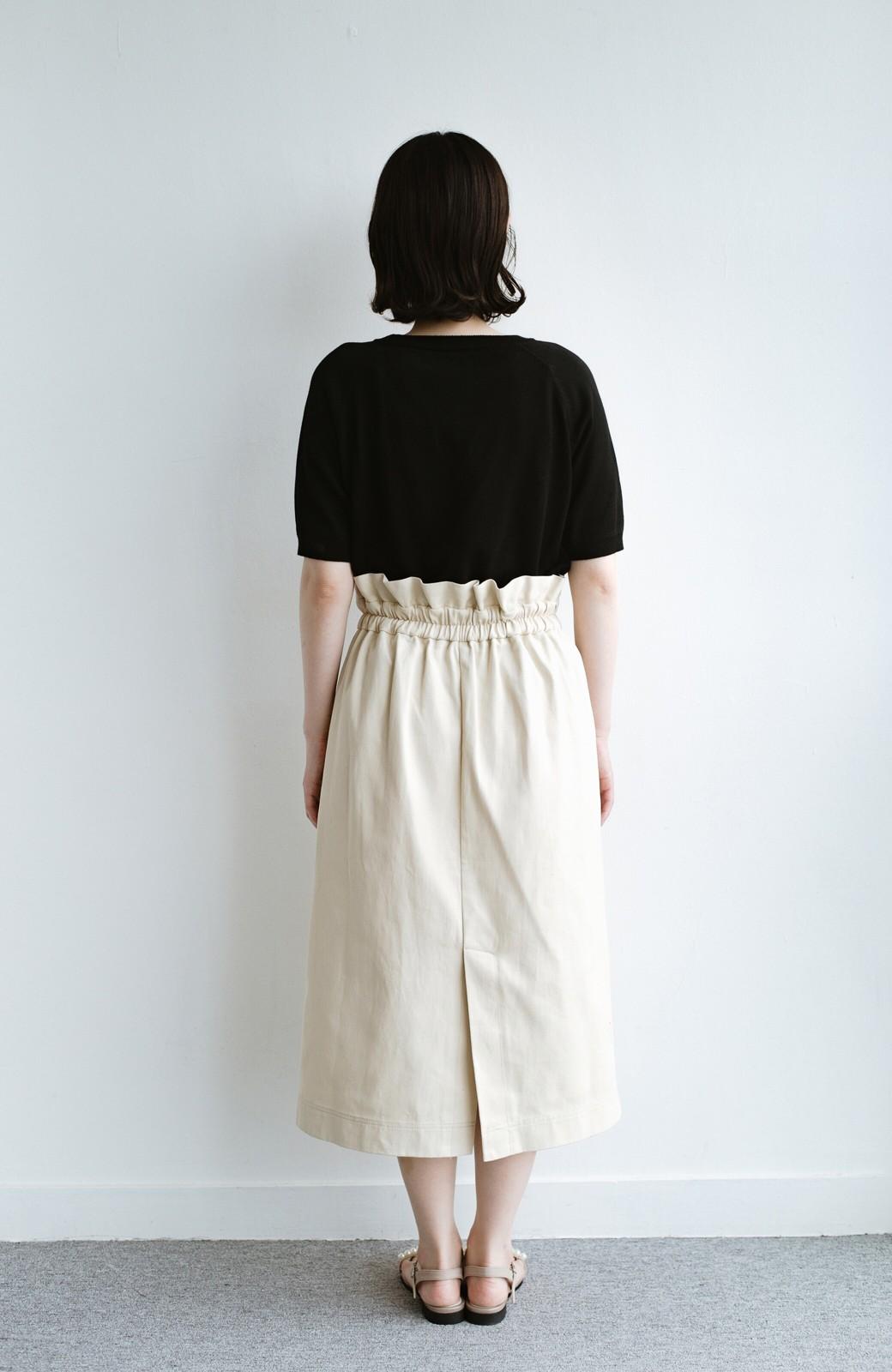 haco! ボタンがポイントのカジュアルにもきれいにもはけるセミタイトスカート <ライトベージュ>の商品写真12