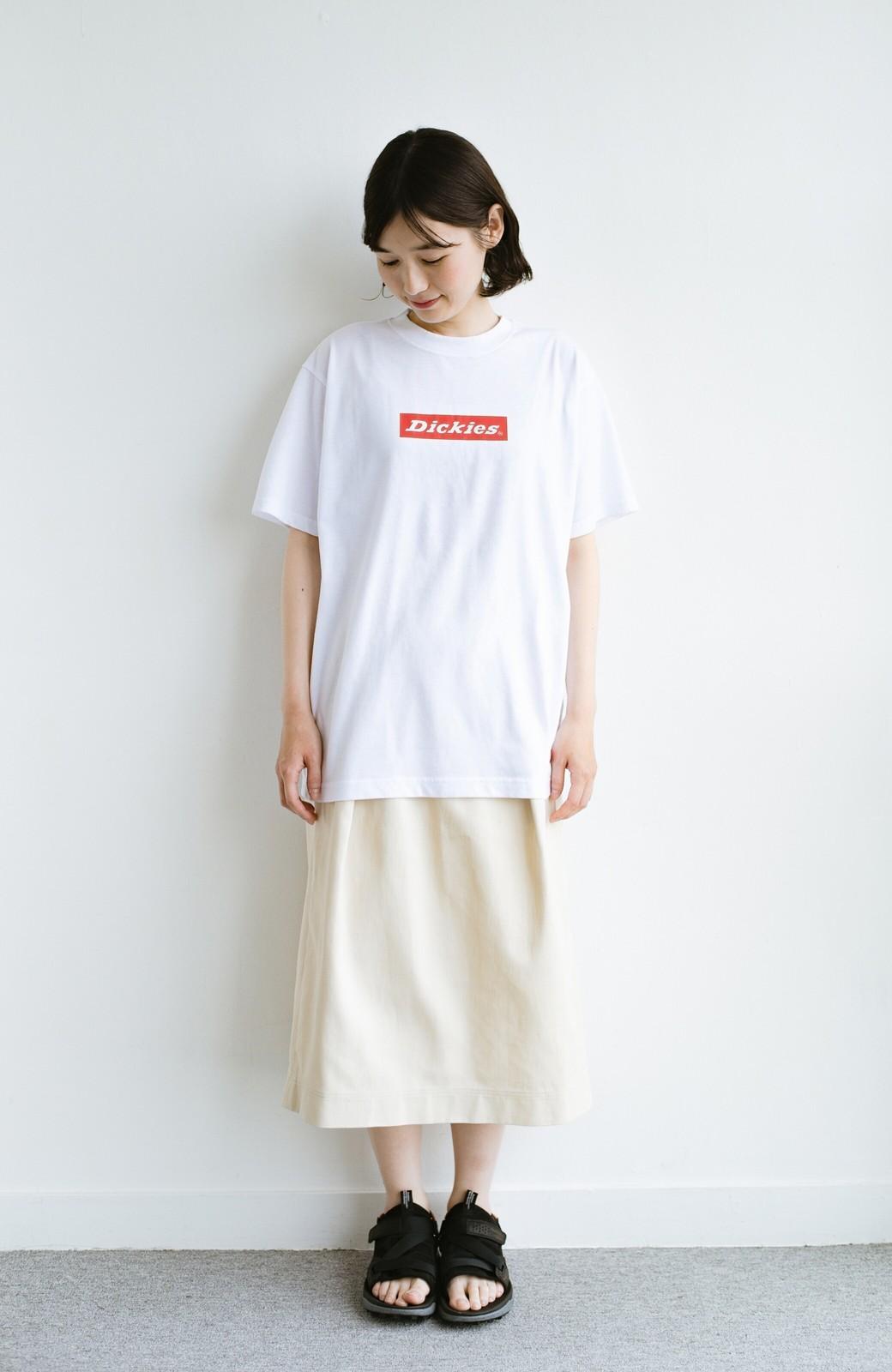 haco! ボタンがポイントのカジュアルにもきれいにもはけるセミタイトスカート <ライトベージュ>の商品写真14