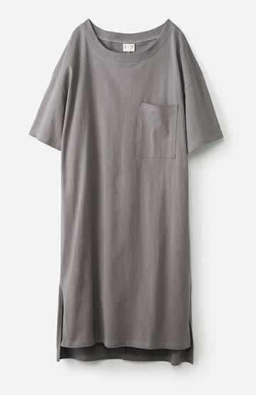 haco! 1枚で着ても重ね着もかわいいビッグTシャツワンピース <グレー>の商品写真