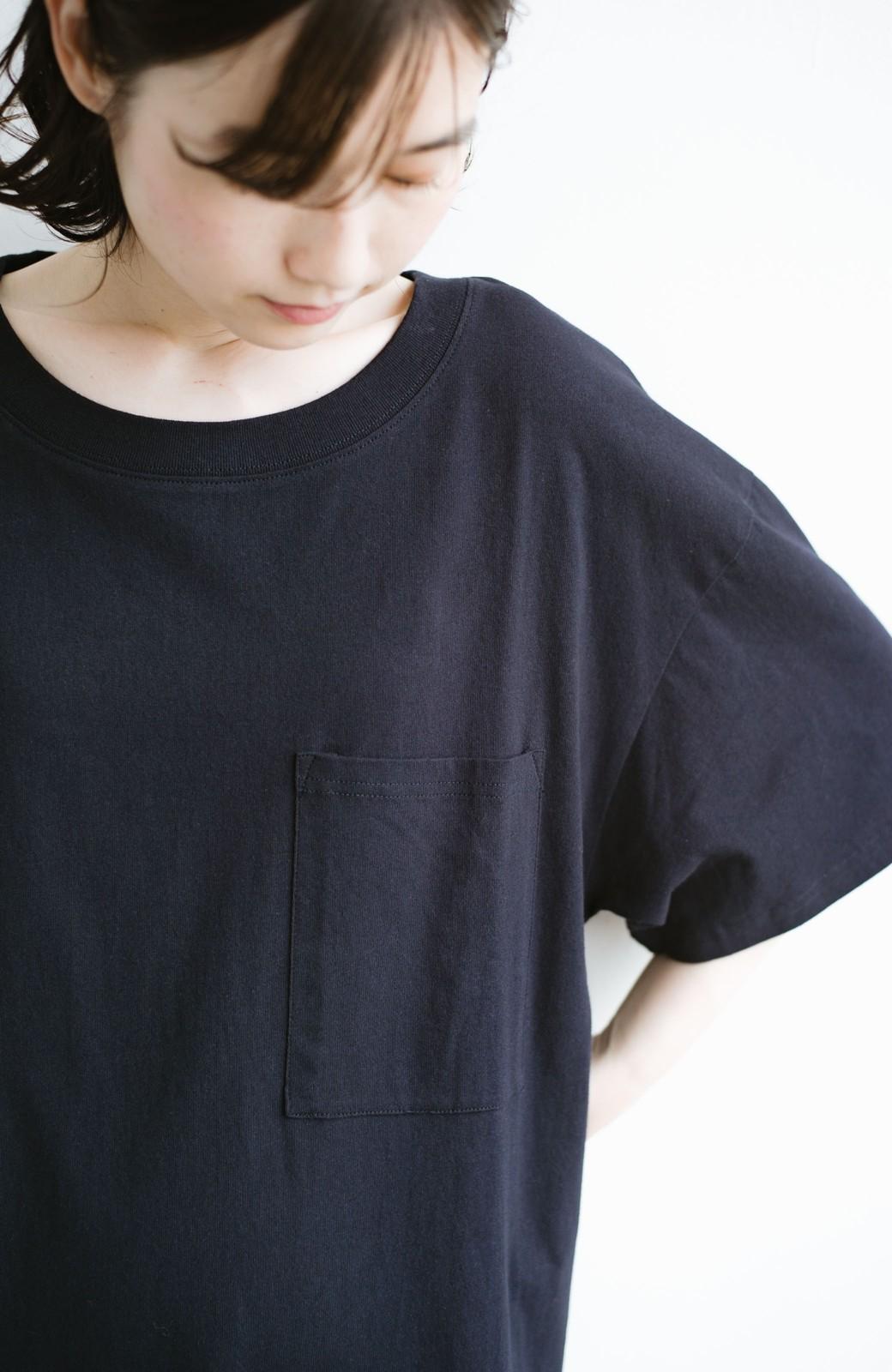 haco! 1枚で着ても重ね着もかわいいビッグTシャツワンピース <ダークネイビー>の商品写真9