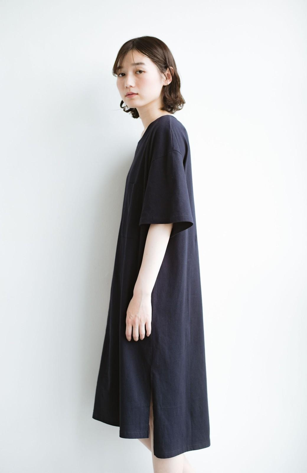 haco! 1枚で着ても重ね着もかわいいビッグTシャツワンピース <ダークネイビー>の商品写真8
