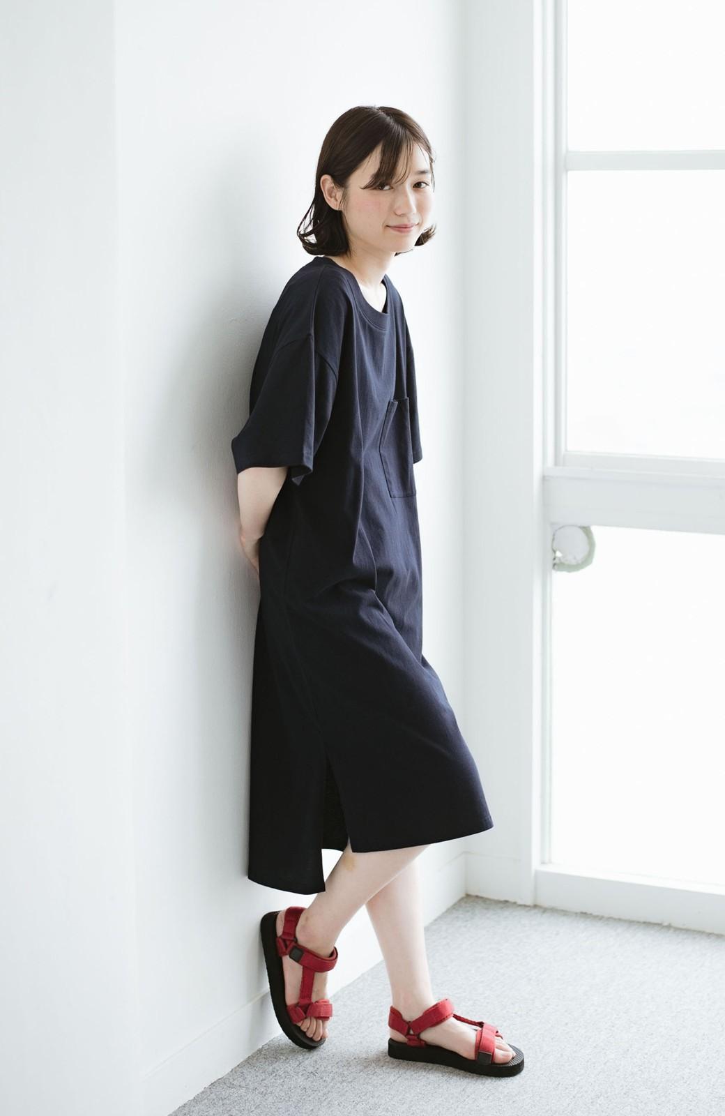haco! 1枚で着ても重ね着もかわいいビッグTシャツワンピース <ダークネイビー>の商品写真1