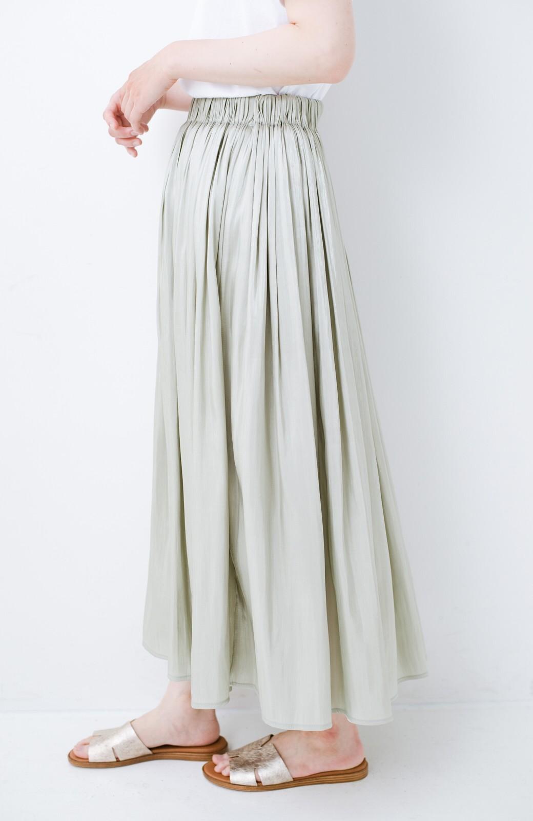 haco! 【再入荷】1枚でも重ね着にも便利なキラキラ素材がかわいいロングスカート by laulea <グリーン>の商品写真3
