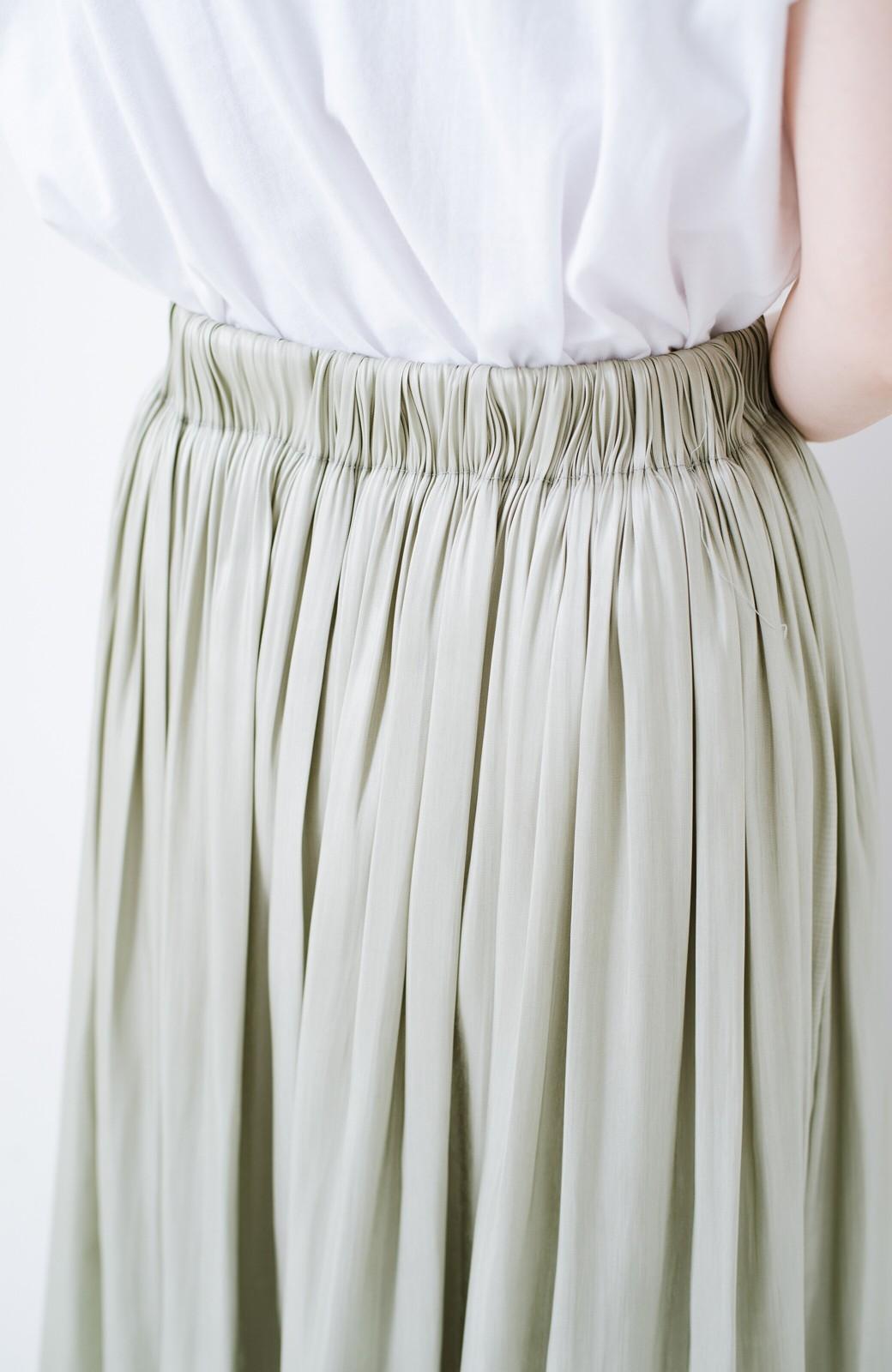 haco! 【再入荷】1枚でも重ね着にも便利なキラキラ素材がかわいいロングスカート by laulea <グリーン>の商品写真9