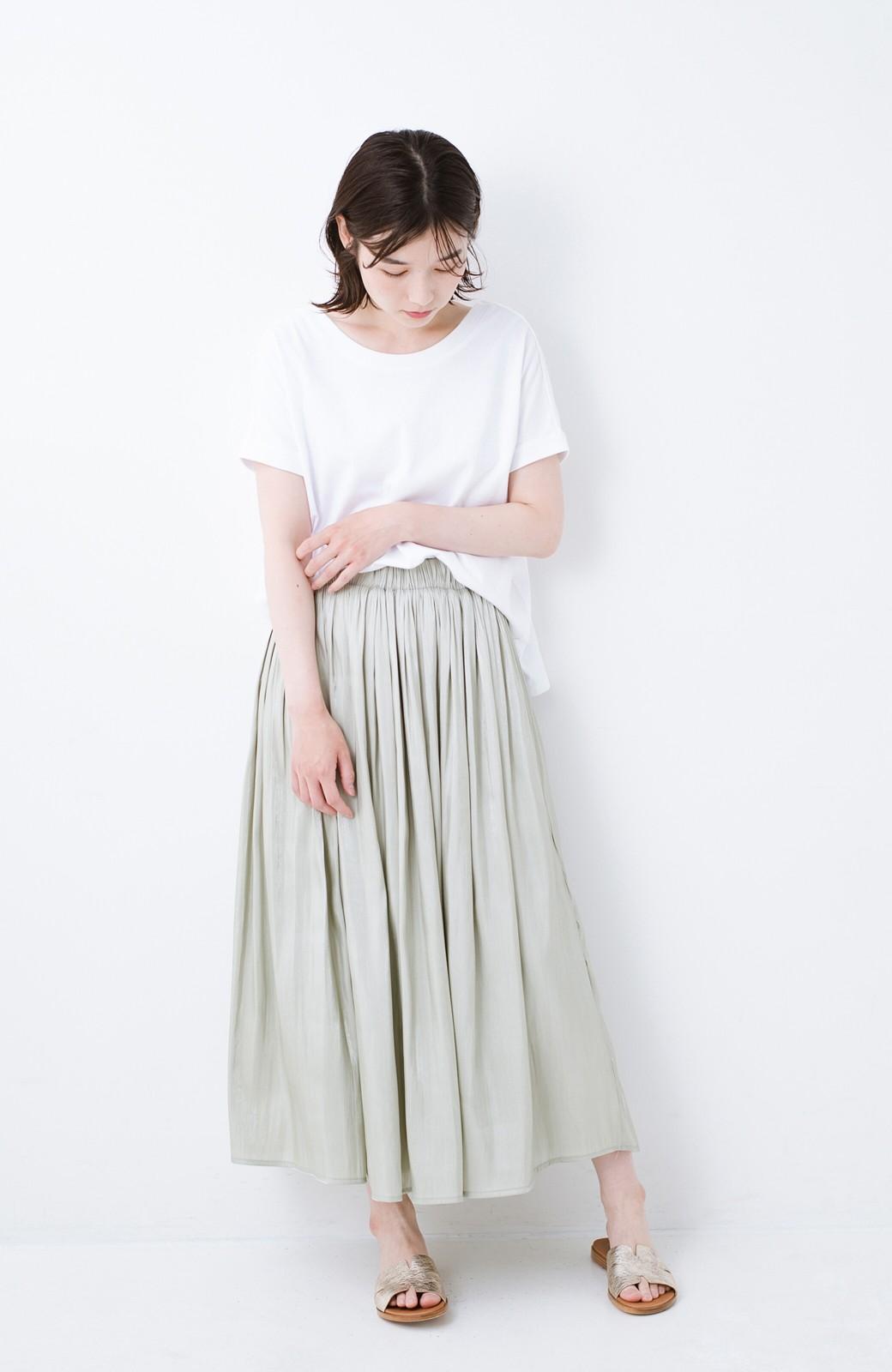 haco! 【再入荷】1枚でも重ね着にも便利なキラキラ素材がかわいいロングスカート by laulea <グリーン>の商品写真4