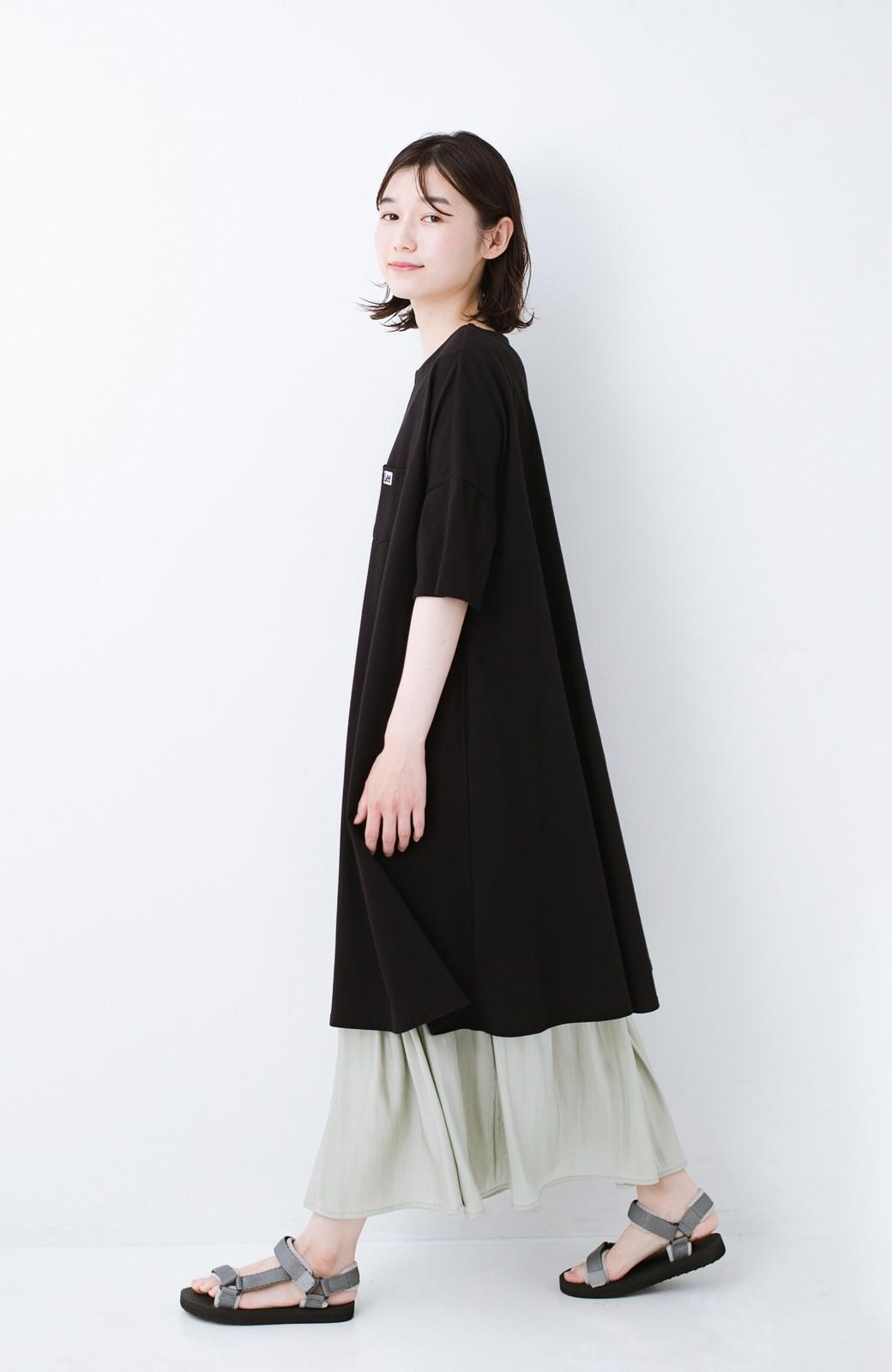 haco! 【再入荷】1枚でも重ね着にも便利なキラキラ素材がかわいいロングスカート by laulea <グリーン>の商品写真7