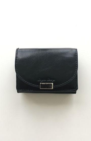 haco! Legato Largo フェイクレザー三つ折りミニ財布 <ブラック>の商品写真