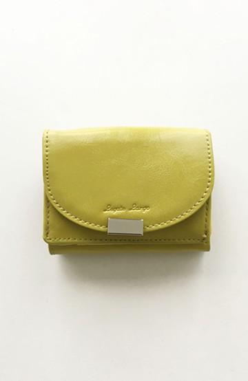 haco! Legato Largo フェイクレザー三つ折りミニ財布 <ライム>の商品写真