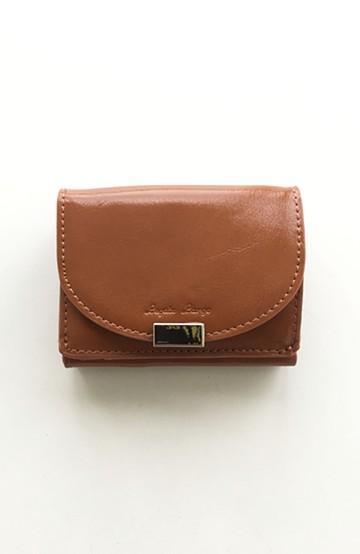 haco! Legato Largo フェイクレザー三つ折りミニ財布 <キャメル>の商品写真