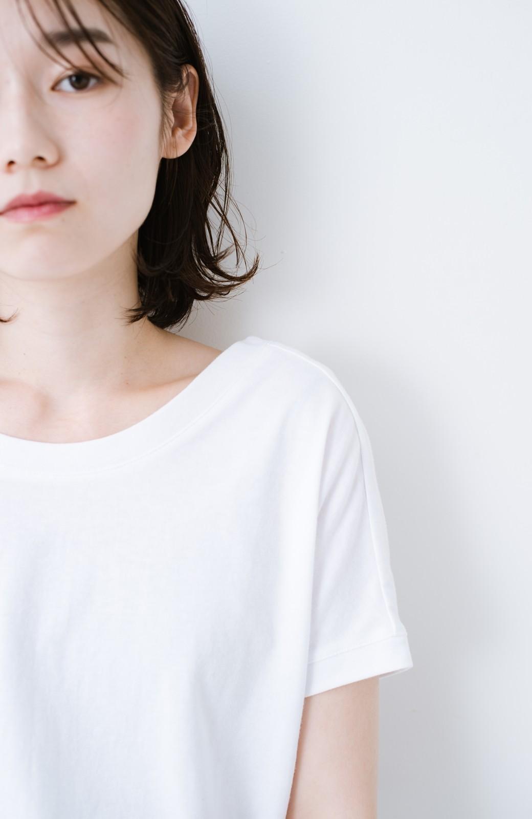 """haco! 胸まわり""""バイーン""""を解決!胸が大きいさんのためのベストシルエットTシャツ from チャームポイント敬愛企画 <ホワイト>の商品写真18"""