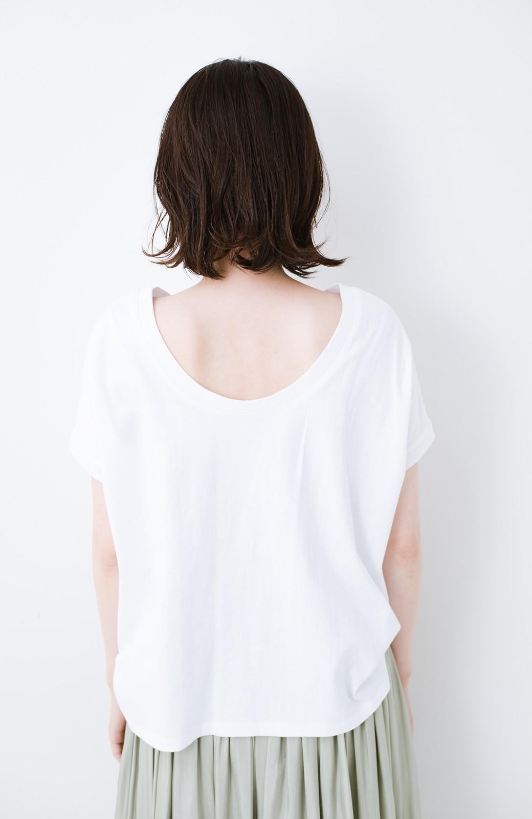"""haco! 胸まわり""""バイーン""""を解決!胸が大きいさんのためのベストシルエットTシャツ from チャームポイント敬愛企画 <ホワイト>の商品写真21"""