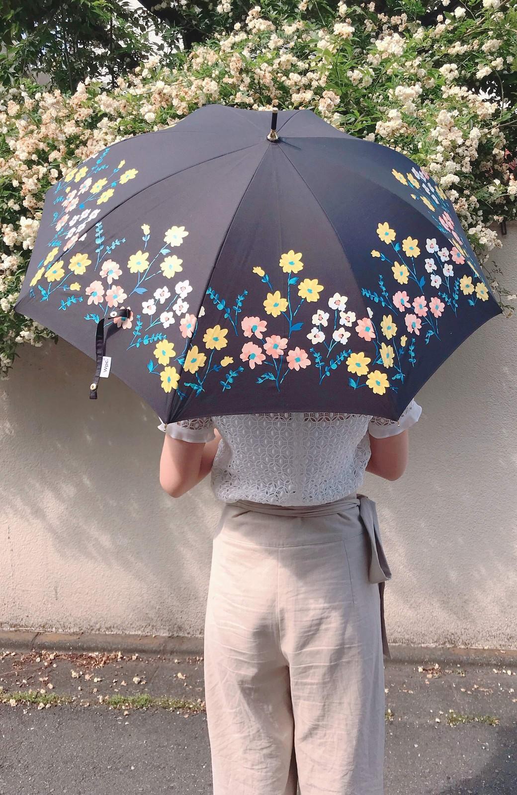 haco! Wpc.<晴雨兼用>フラワーベッド柄日傘 <ブラック>の商品写真3