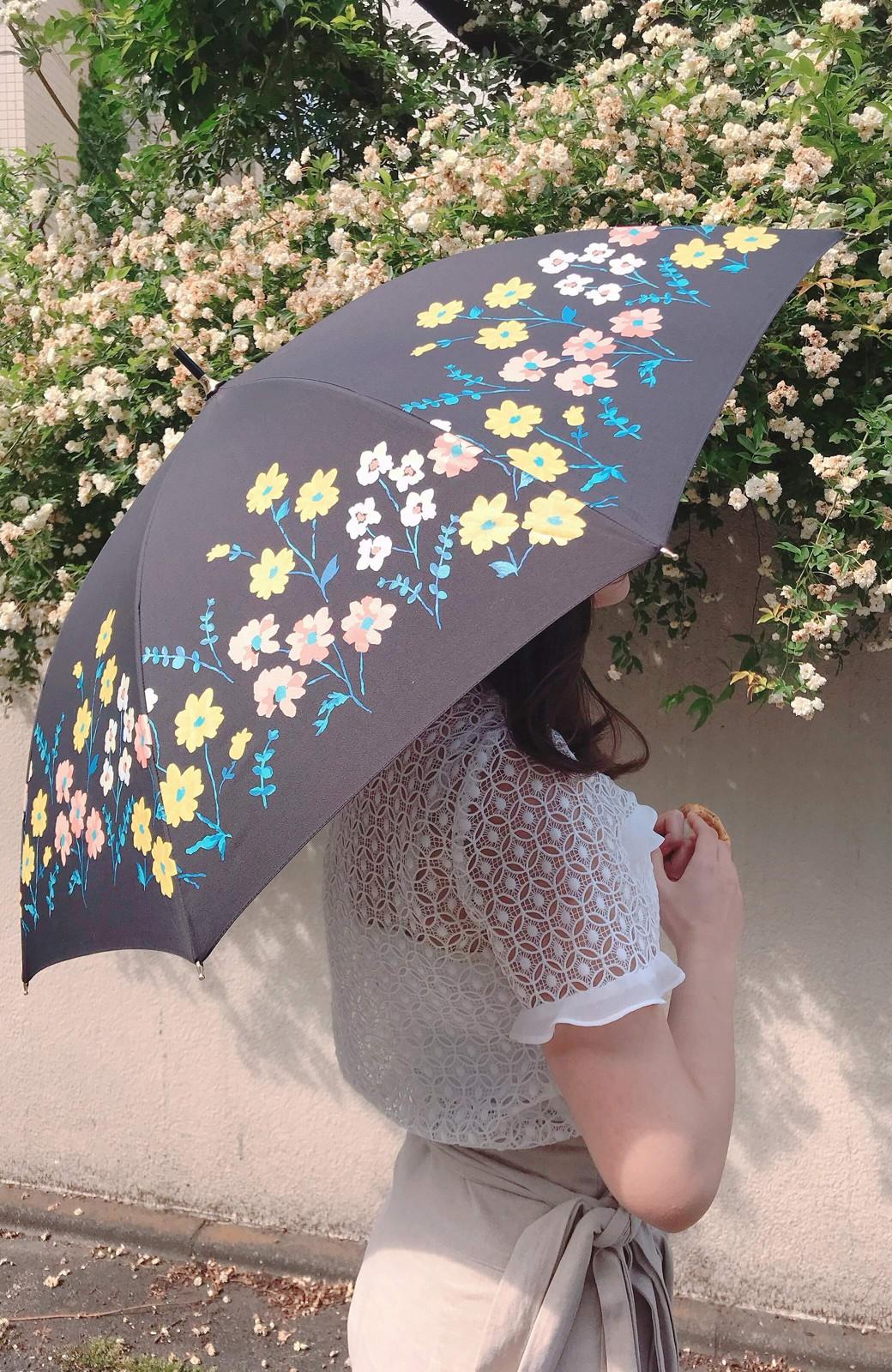 haco! Wpc.<晴雨兼用>フラワーベッド柄日傘 <ブラック>の商品写真7