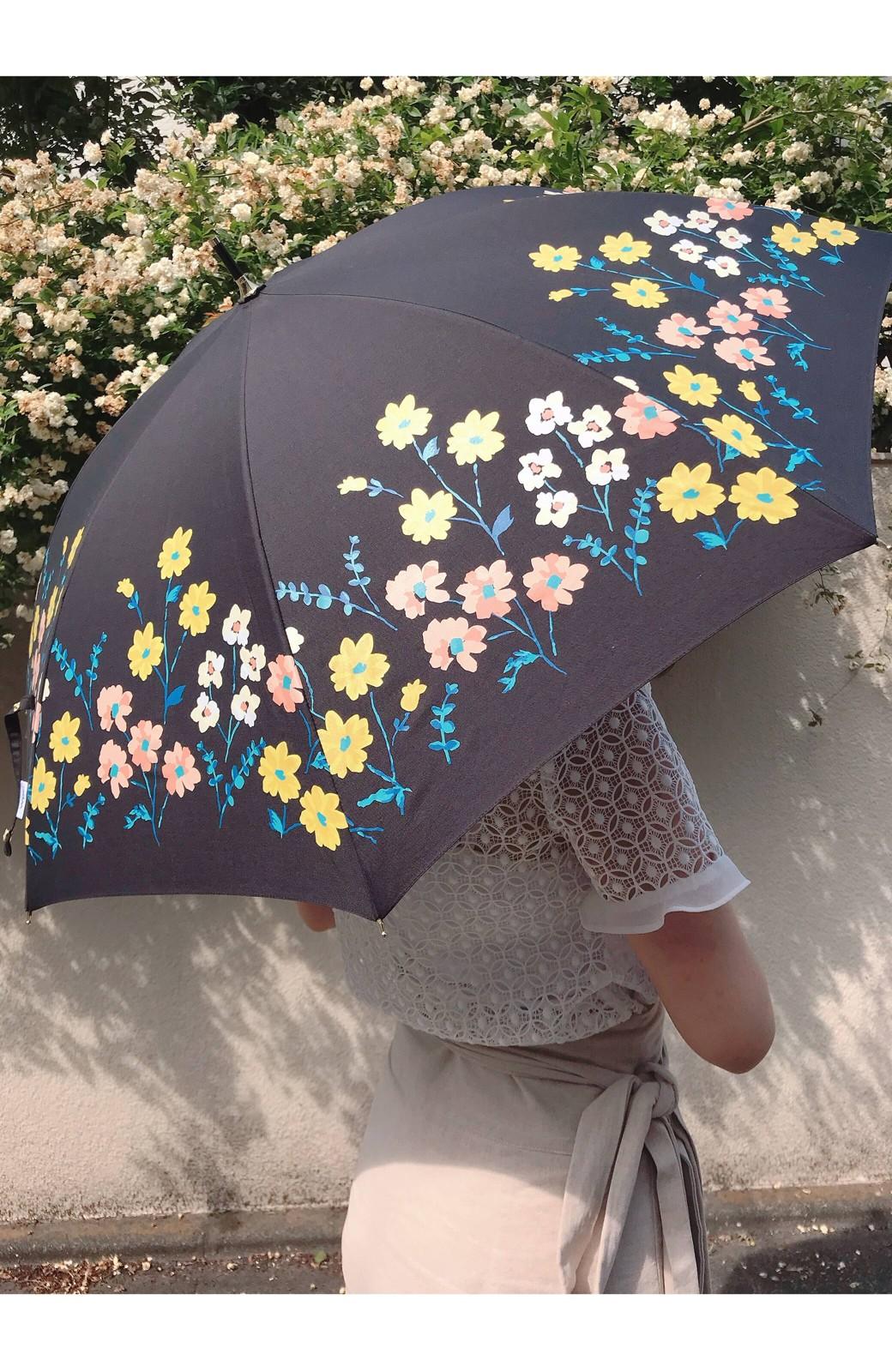 haco! Wpc.<晴雨兼用>フラワーベッド柄日傘 <ブラック>の商品写真5