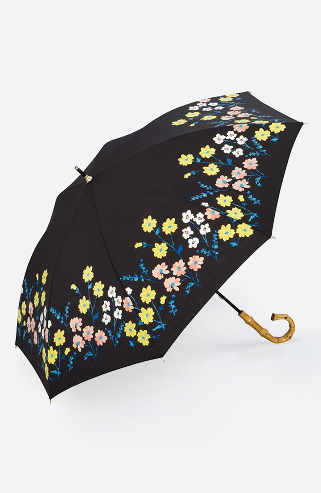 haco! Wpc.<晴雨兼用>フラワーベッド柄日傘 <ブラック>の商品写真1