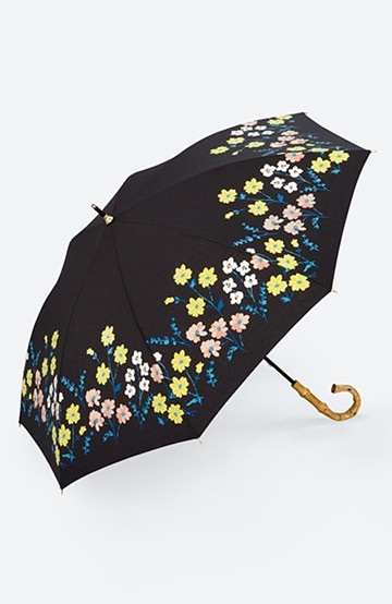 haco! Wpc.<晴雨兼用>フラワーベッド柄日傘 <ブラック>の商品写真