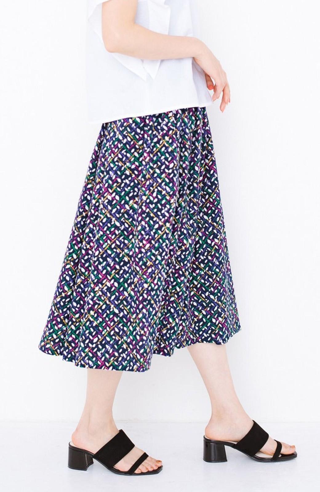 haco! 【コラボ3年目!】京都の浴衣屋さんと作った浴衣生地のスカート <ネイビー>の商品写真3